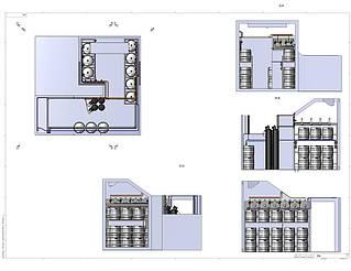 Так холодная комната Varvar Bar выглядела на стадии проектирования. Тщательные расчеты, учет всех нюансов эргономики, оптимальное размещение кег и оборудования - только такой подход наших специалистов дает гарантированный результат нашему заказчику.