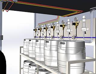 Как будет выглядеть холодная камера для кег было видно еще на стадии ее проектирования.