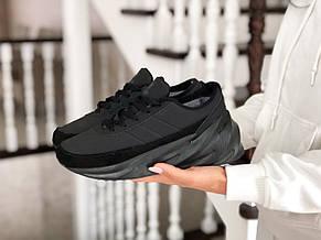 Подростковые зимние кроссовки Adidas Sharks,черные, фото 3