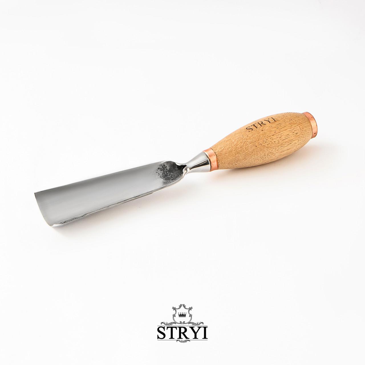 Отлогая ударная стамеска 40мм №7 для резьбы по дереву от производителя STRYI