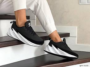 Подростковые зимние кроссовки Adidas Sharks,черно-белые, фото 3