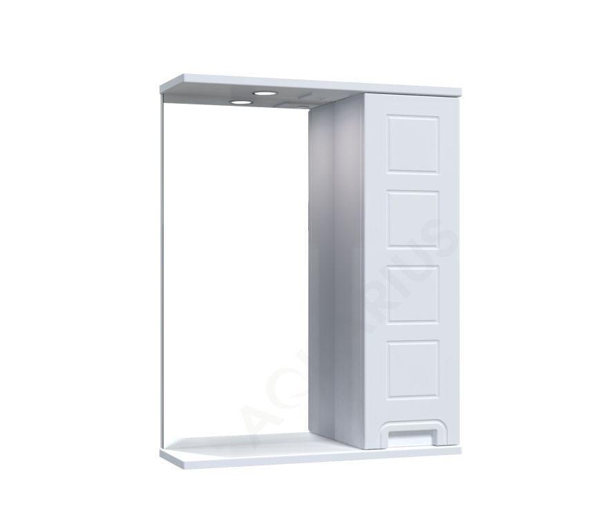 Зеркало Аквариус Cимфония со шкафчиком и подсветкой 55 см