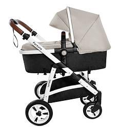 Детская коляска трансформер Carrello Fortuna CRL-9001/1 Peanut beige (Каррелло, Китай)