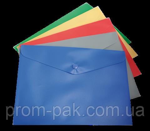 Папка-конверт А5 на кнопке,ассорти