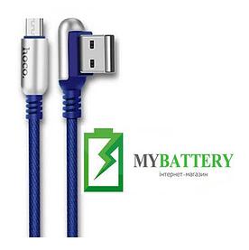 USB кабель Hoco U17 Capsule Micro USB (1200mm), синий