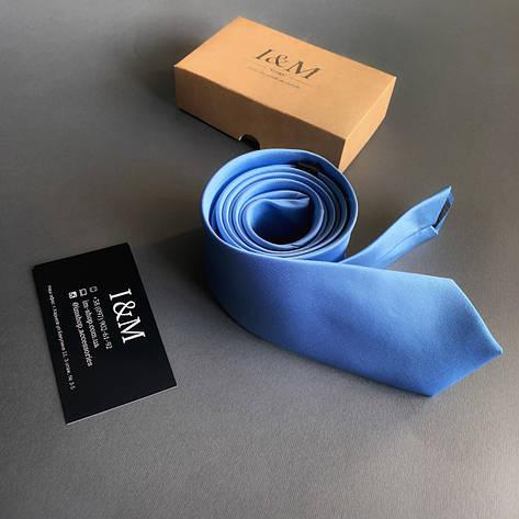 Галстук I&M Craft голубой (020338), фото 2
