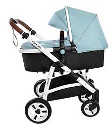 Детская коляска трансформер Carrello Fortuna CRL-9001/1 Hawai blue (Каррелло, Китай)