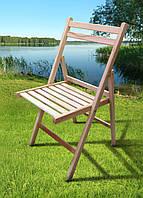 Стул раскладной деревянный Пикник бук, фото 1