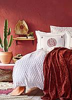 Набор Постельное белье с пледом Евро Alley Karaca Home