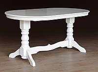 Стол обеденный деревянный раскладной Говерла белый, фото 1