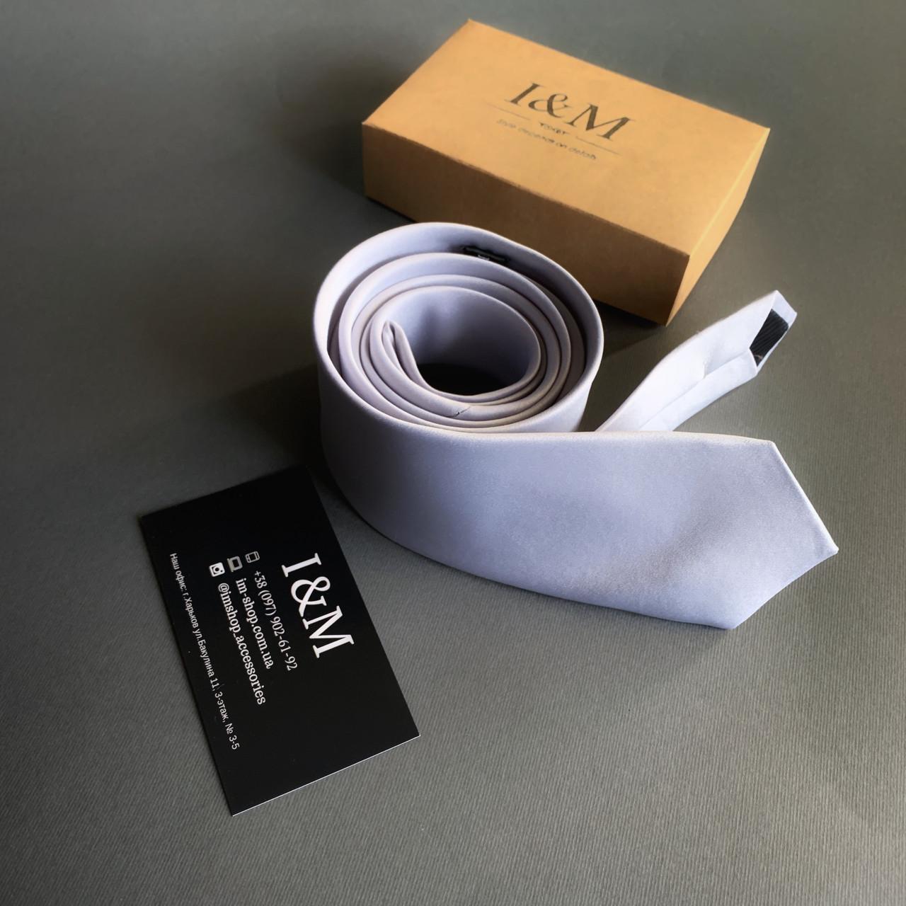 Галстук I&M Craft светло-серый (020340)