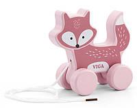 Игрушка-каталка Лиса Viga toys PolarB (44002)