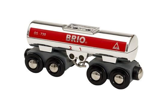 BRIO World АКСЕССУАРЫ ТРАНСПОРТ Вагон-цистерна для бензина 33472