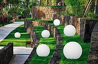 Светильник парковый шар д. 200мм, база E27 белый