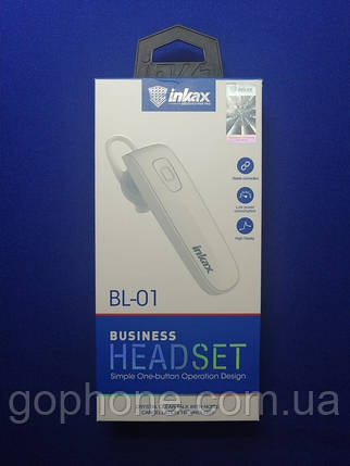Bluetooth гарнитура INKAX BL-01 White, фото 2