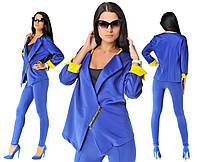 Костюм Леггинсы и пиджак синий