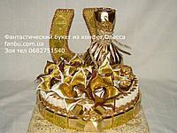 """Праздничное оформление коньяка с конфетами """"для олигарха""""(вариант 2), фото 1"""