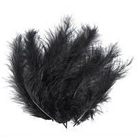 Декоративные перья черные (100 шт), фото 1