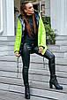 Стильная  двухсторонняя куртка осень-зима 1243.3684  неоновый с черным, фото 3