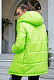 Стильная  двухсторонняя куртка осень-зима 1243.3684  неоновый с черным, фото 4