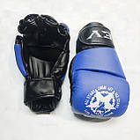 Перчатки для единоборств  Lev-Sport М1 (ММА) Синие S, фото 2