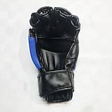 Перчатки для единоборств  Lev-Sport М1 (ММА) Синие S, фото 6