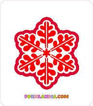 Трафарет + формочка-вырубка для пряников Снежинка №3