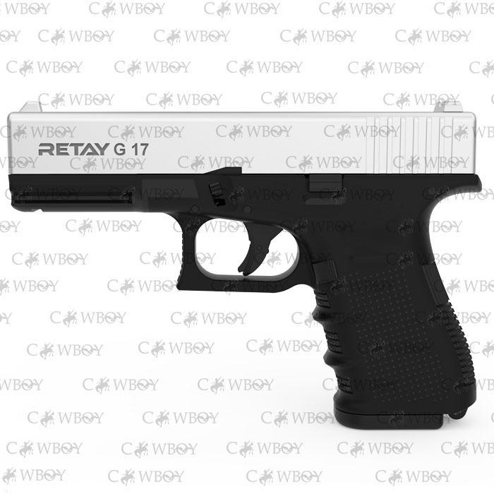 Пистолет стартовый Retay G17, chrome