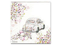 Салфетка для декупажа Katrin —  Свадебное авто, 33x33 см
