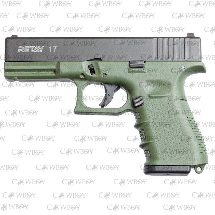 Пистолет стартовый Retay G17, olive
