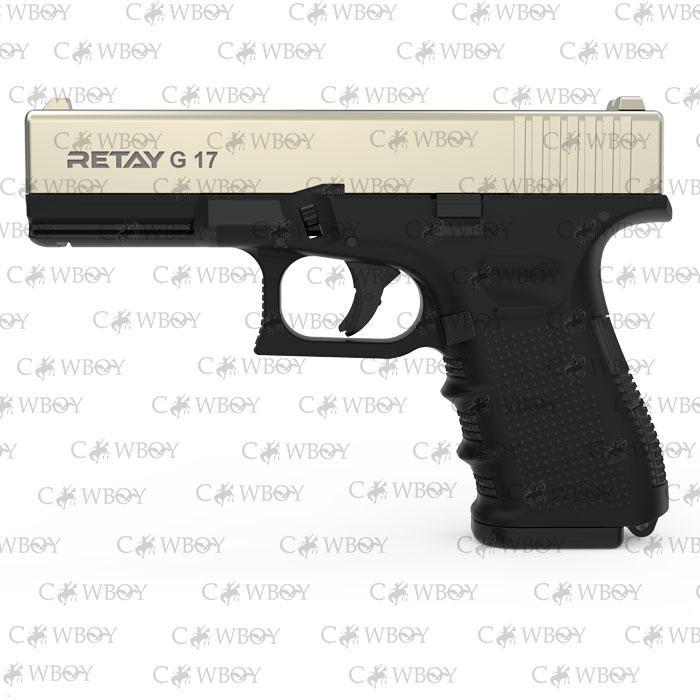 Пистолет стартовый Retay G17, satin