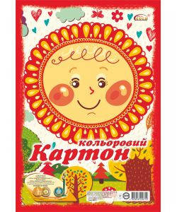 Картон цветной Бриск УВ-20 ф. А-4, 9 листов, фото 2