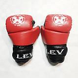 Перчатки Lev-Sport М1 (ММА) Красные М, фото 2