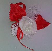 Свадебный цветок для гостей № 1 (красная)