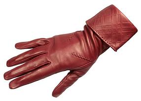 Удлиненные женские кожаные перчатки