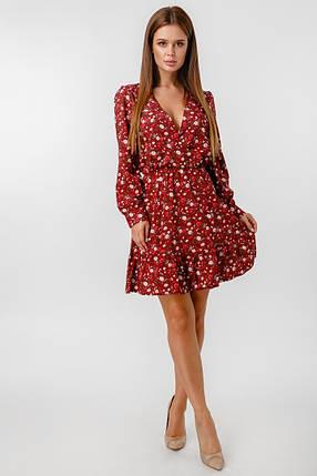Женское платье с глубоким декольте /бордо, 42-48, LL-008/, фото 2