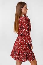 Женское платье с глубоким декольте /бордо, 42-48, LL-008/, фото 3