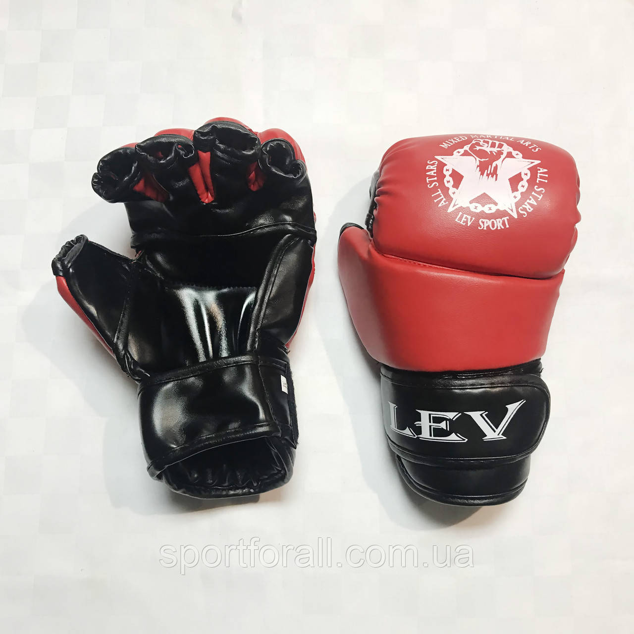 Перчатки для единоборств   Lev-Sport М1 (ММА) Красные XS
