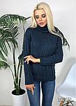 Женский вязаный свитер под горло(в расцветках), фото 3