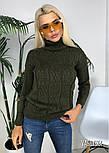 Женский вязаный свитер под горло(в расцветках), фото 7