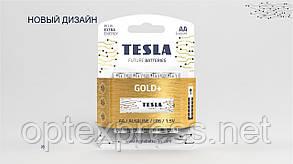 Батарейки TESLA AA / LR06 / 1,5V (Alkaline) GOLD+ (4шт)