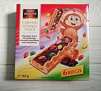 Печенье с карамельно-шоколадной начинкой Feiny Biscuits Caramel Scoko-Snack 162гр (Австрия)