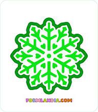 Трафарет + формочка-вырубка для пряников Снежинка №4