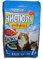 Наполнитель для кошачьего туалета ЧИСТЮЛЯ Универсал Лаванда, 5 кг