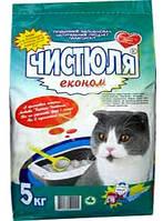 Наполнитель для кошачьего туалета Чистюля Эконом Лаванда, 5 кг