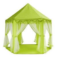 Намет для дітей - салатовий , Дитяча палатка , Дитячий домік , детская палатка , вигвам Детский домик игровой