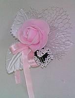 Свадебный цветок для гостей № 1 (розовые)