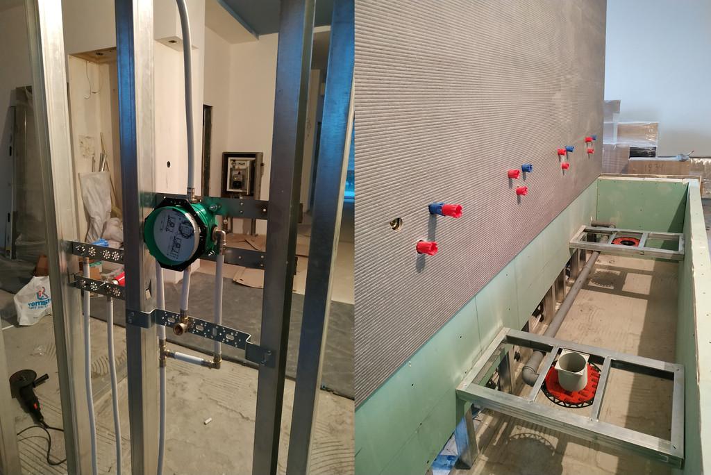 Монтаж и установка смесителей на стенд