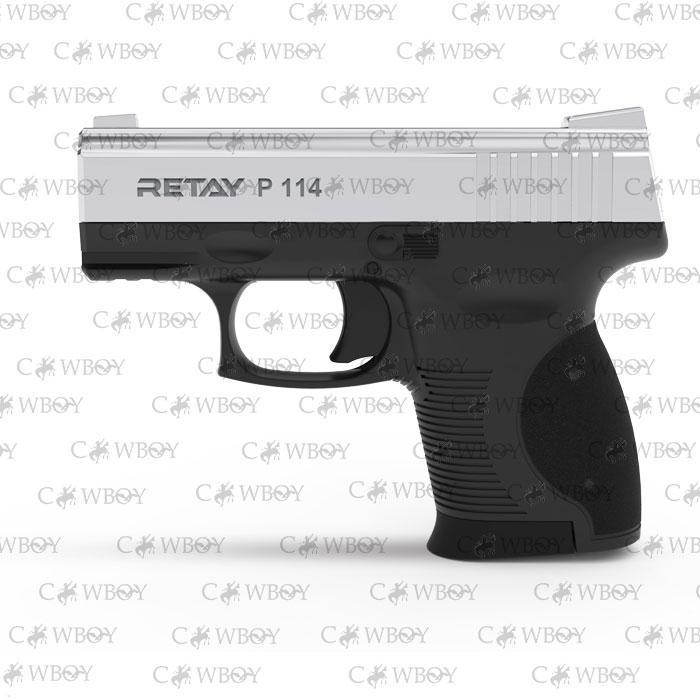 Пистолет стартовый Retay P114, nickel
