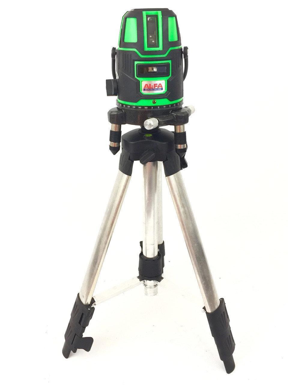 Лазерный уровень нивелир рівень AL-FA ALNL02 луч 50м .Идеально для работы на улице.